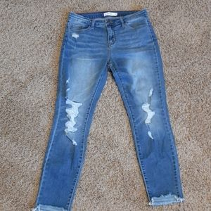 Cello Size 11 Skinny distressed Jeans
